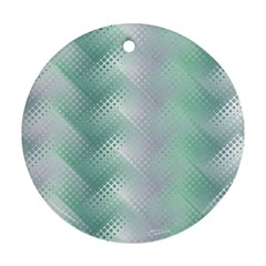 Background Bubblechema Perforation Round Ornament (two Sides)