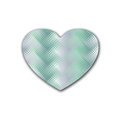 Background Bubblechema Perforation Heart Coaster (4 Pack)