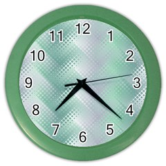 Background Bubblechema Perforation Color Wall Clocks
