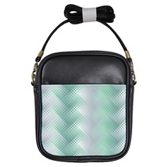 Background Bubblechema Perforation Girls Sling Bags