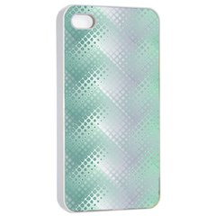 Background Bubblechema Perforation Apple Iphone 4/4s Seamless Case (white)