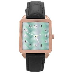 Background Bubblechema Perforation Rose Gold Leather Watch