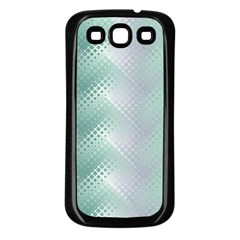 Background Bubblechema Perforation Samsung Galaxy S3 Back Case (Black)