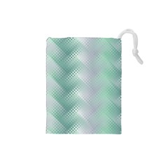 Background Bubblechema Perforation Drawstring Pouches (small)
