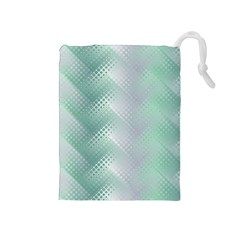 Background Bubblechema Perforation Drawstring Pouches (medium)