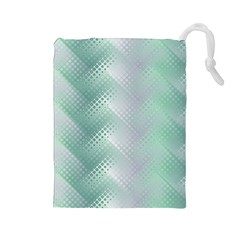 Background Bubblechema Perforation Drawstring Pouches (large)