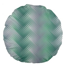 Background Bubblechema Perforation Large 18  Premium Flano Round Cushions