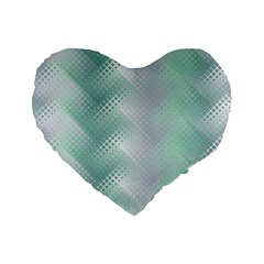 Background Bubblechema Perforation Standard 16  Premium Flano Heart Shape Cushions