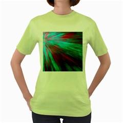 Background Texture Pattern Design Women s Green T-Shirt