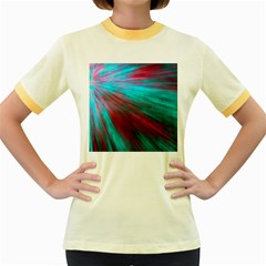 Background Texture Pattern Design Women s Fitted Ringer T Shirts