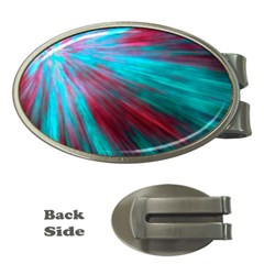 Background Texture Pattern Design Money Clips (Oval)