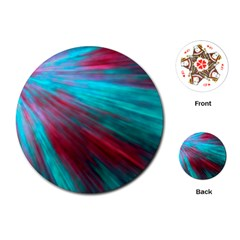 Background Texture Pattern Design Playing Cards (round)