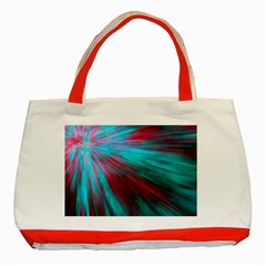 Background Texture Pattern Design Classic Tote Bag (red)