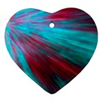 Background Texture Pattern Design Heart Ornament (2 Sides) Front