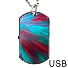 Background Texture Pattern Design Dog Tag Usb Flash (two Sides)