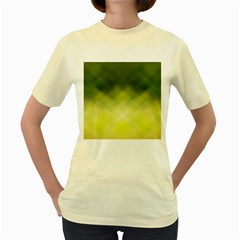 Background Textures Pattern Design Women s Yellow T Shirt
