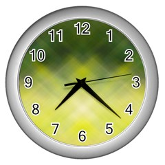 Background Textures Pattern Design Wall Clocks (silver)