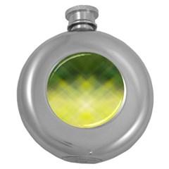 Background Textures Pattern Design Round Hip Flask (5 Oz)