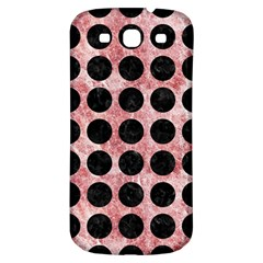 Circles1 Black Marble & Red & White Marble (r) Samsung Galaxy S3 S Iii Classic Hardshell Back Case