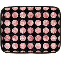 Circles1 Black Marble & Red & White Marble Double Sided Fleece Blanket (mini)