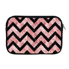 Chevron9 Black Marble & Red & White Marble (r) Apple Macbook Pro 17  Zipper Case