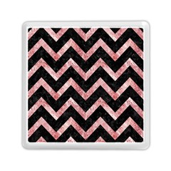 Chevron9 Black Marble & Red & White Marble Memory Card Reader (square)