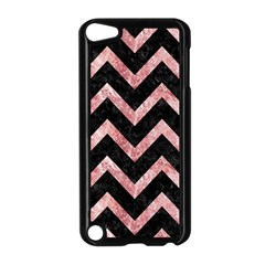 Chevron9 Black Marble & Red & White Marble Apple Ipod Touch 5 Case (black)