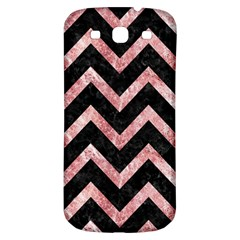 Chevron9 Black Marble & Red & White Marble Samsung Galaxy S3 S Iii Classic Hardshell Back Case