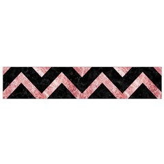 Chevron9 Black Marble & Red & White Marble Flano Scarf (small)