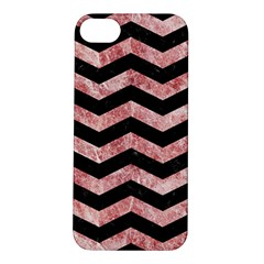 Chevron3 Black Marble & Red & White Marble Apple Iphone 5s/ Se Hardshell Case
