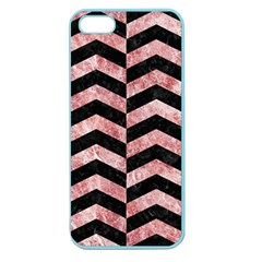 Chevron2 Black Marble & Red & White Marble Apple Seamless Iphone 5 Case (color)