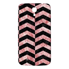 Chevron2 Black Marble & Red & White Marble Samsung Galaxy Mega I9200 Hardshell Back Case