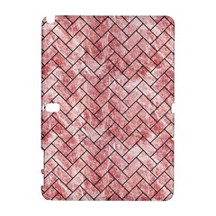 Brick2 Black Marble & Red & White Marble (r) Samsung Galaxy Note 10 1 (p600) Hardshell Case