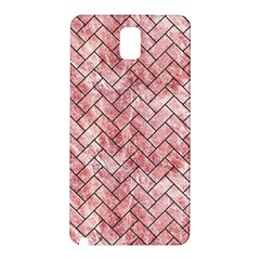 Brick2 Black Marble & Red & White Marble (r) Samsung Galaxy Note 3 N9005 Hardshell Back Case
