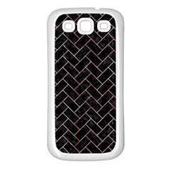 Brick2 Black Marble & Red & White Marble Samsung Galaxy S3 Back Case (white)