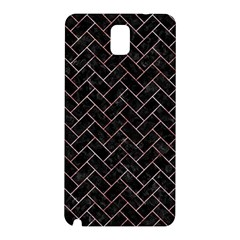 Brick2 Black Marble & Red & White Marble Samsung Galaxy Note 3 N9005 Hardshell Back Case
