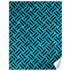 Woven2 Black Marble & Turquoise Marble (r) Canvas 12  X 16