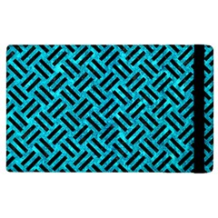 Woven2 Black Marble & Turquoise Marble (r) Apple Ipad 2 Flip Case