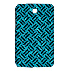 Woven2 Black Marble & Turquoise Marble (r) Samsung Galaxy Tab 3 (7 ) P3200 Hardshell Case