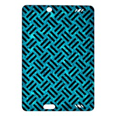 Woven2 Black Marble & Turquoise Marble (r) Amazon Kindle Fire Hd (2013) Hardshell Case