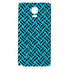 Woven2 Black Marble & Turquoise Marble (r) Samsung Note 4 Hardshell Back Case