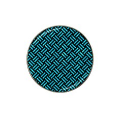 Woven2 Black Marble & Turquoise Marble Hat Clip Ball Marker (4 Pack)