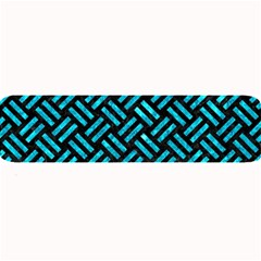 Woven2 Black Marble & Turquoise Marble Large Bar Mat