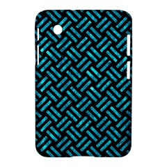 Woven2 Black Marble & Turquoise Marble Samsung Galaxy Tab 2 (7 ) P3100 Hardshell Case
