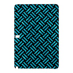 Woven2 Black Marble & Turquoise Marble Samsung Galaxy Tab Pro 12 2 Hardshell Case