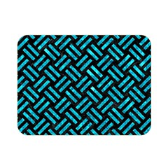 Woven2 Black Marble & Turquoise Marble Double Sided Flano Blanket (mini)