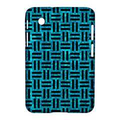 Woven1 Black Marble & Turquoise Marble (r) Samsung Galaxy Tab 2 (7 ) P3100 Hardshell Case