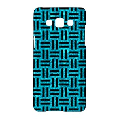 Woven1 Black Marble & Turquoise Marble (r) Samsung Galaxy A5 Hardshell Case