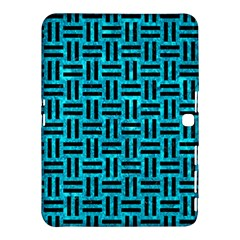Woven1 Black Marble & Turquoise Marble (r) Samsung Galaxy Tab 4 (10 1 ) Hardshell Case