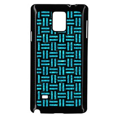 Woven1 Black Marble & Turquoise Marble Samsung Galaxy Note 4 Case (black)